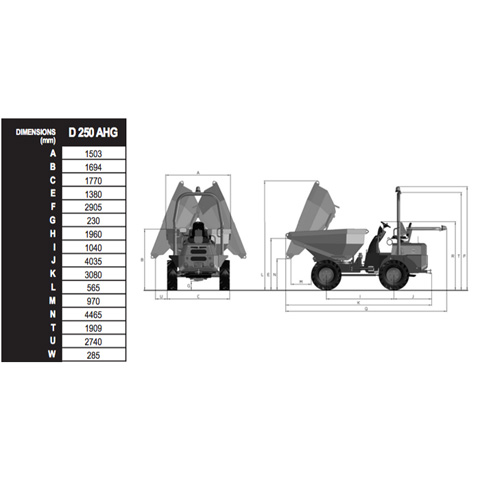 DUMPER 4WD - SWIVEL TIPPING 2.5T - code:202030