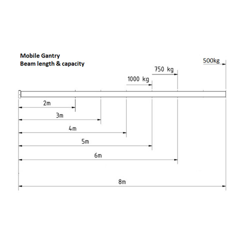 GANTRY - ALUMINIUM 1T MOBILE #304650 | LIFT and SHIFT