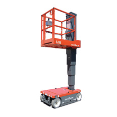 VERTICAL MANLIFT 4.8M SELF PROPELLED