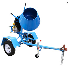 CONCRETE MIXER - 140L (5CU.FT) PETROL TOWABLE