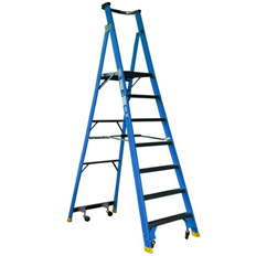 PLATFORM LADDER 1.8M (6FT) FIBREGLASS