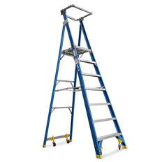 PLATFORM LADDER 2.1M (8FT) FIBREGLASS