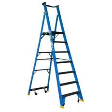PLATFORM LADDER 2.4M (8FT) FIBREGLASS