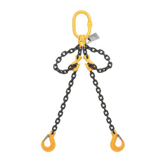 CHAIN SLING 4 LEG 6M PLUS  6-10MM